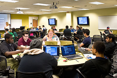 photo of students in a computer classroom