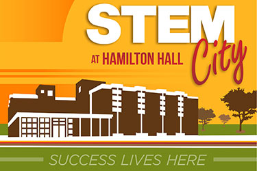 stem city at hamilton hall graphic