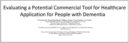 link to Paper Evaluating a Potential Commercial Tool for Healthcare Application for People with Dementia