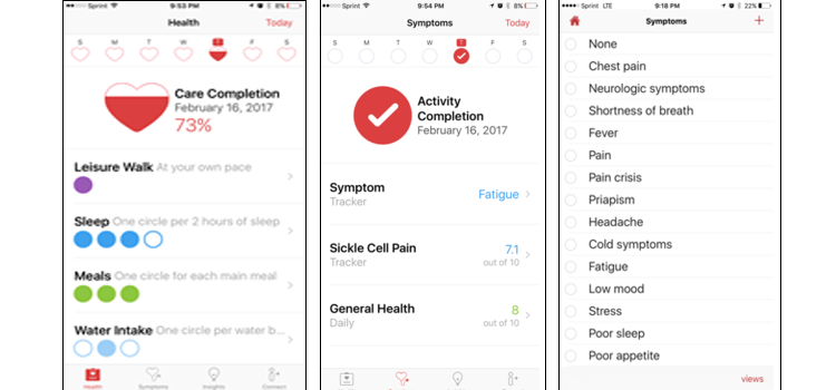 Figure 1. Screenshots and functions of the Tru-Pain app