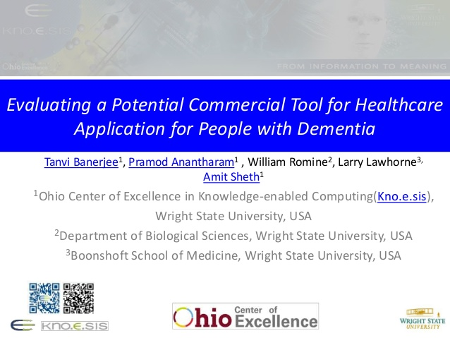 "link for slide presentation ""Evaluating a Potential Commercial Tool for Healthcare Application for People with Dementia"