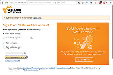 Step 3 image for creating AWS account