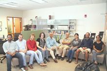 Team members (Sep., 2015), from left to right - Siva Kumar, Hussein Al-Olimat, Riccardo Tommasini, Prof. Valerie L. Shalin, Prof. Amit Sheth, Prof. Krishnaprasad Thirunarayan, Dr. Tanvi Banerjee, Pavan Kapanipathi, Sarasi Lalithsena.